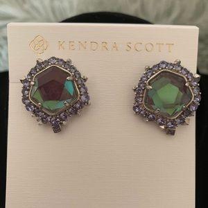 NWOT Kendra Scott Aria silver earrings